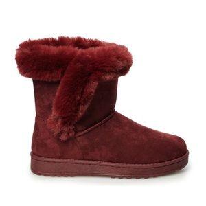 NIB SO Wine Color Paulina Winter Boots Size 8.5